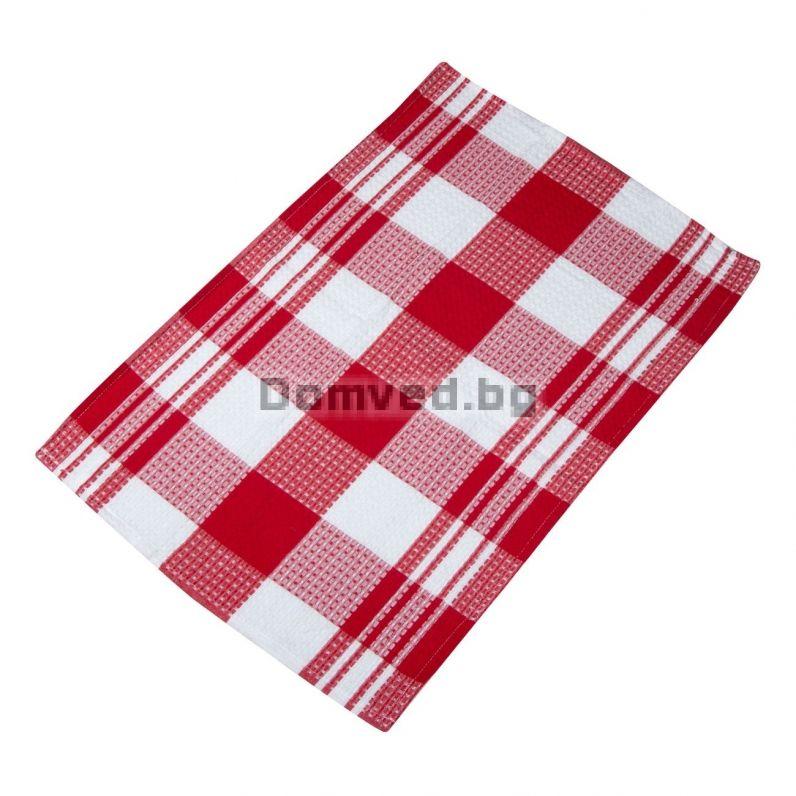 170f488561e Кухненска кърпа - червено-бяло каре - 45 х 65 см.