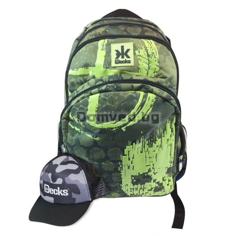 fd31a25a1e6 Раница - ученическа - зелена + шапка